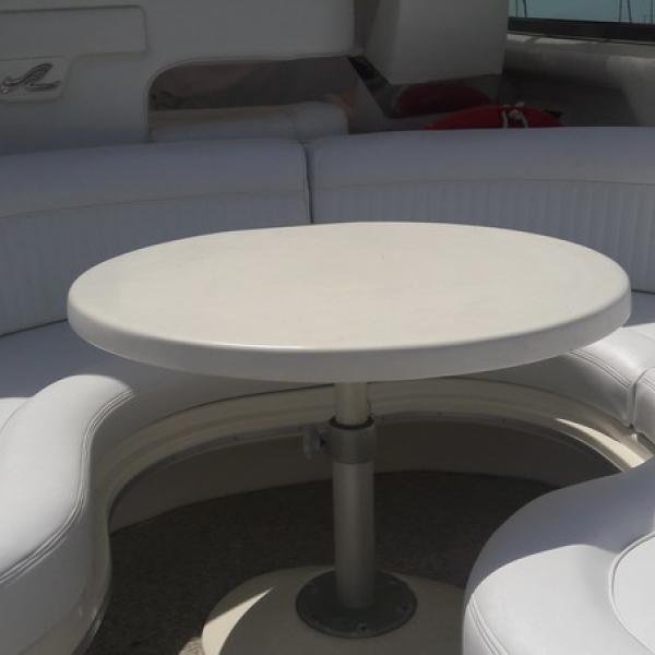 Tapizado de rinconera exterior de barco para cliente de Punta Umbría