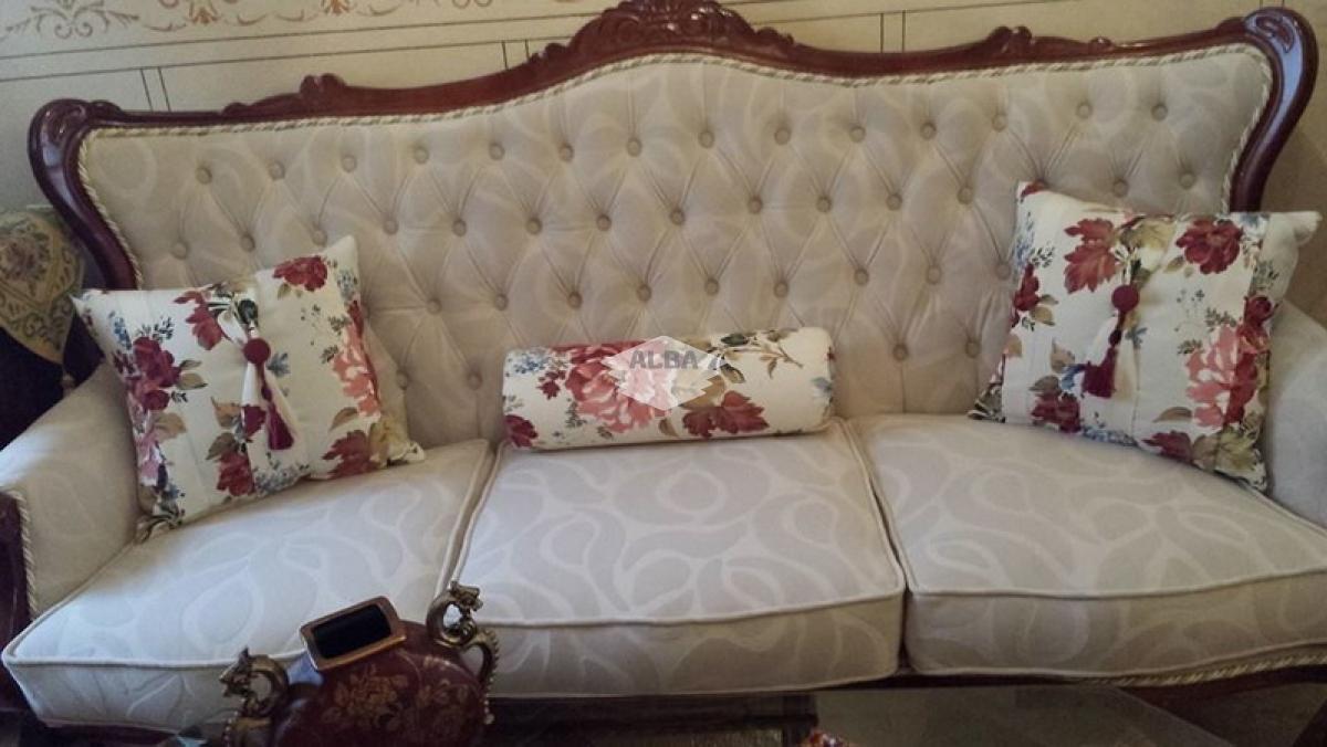 Tapizar cojines de sofa cheap ikea karlstad seater sofa covered with urbanskin chestnut bycast - Tapizar cojines sofa ...