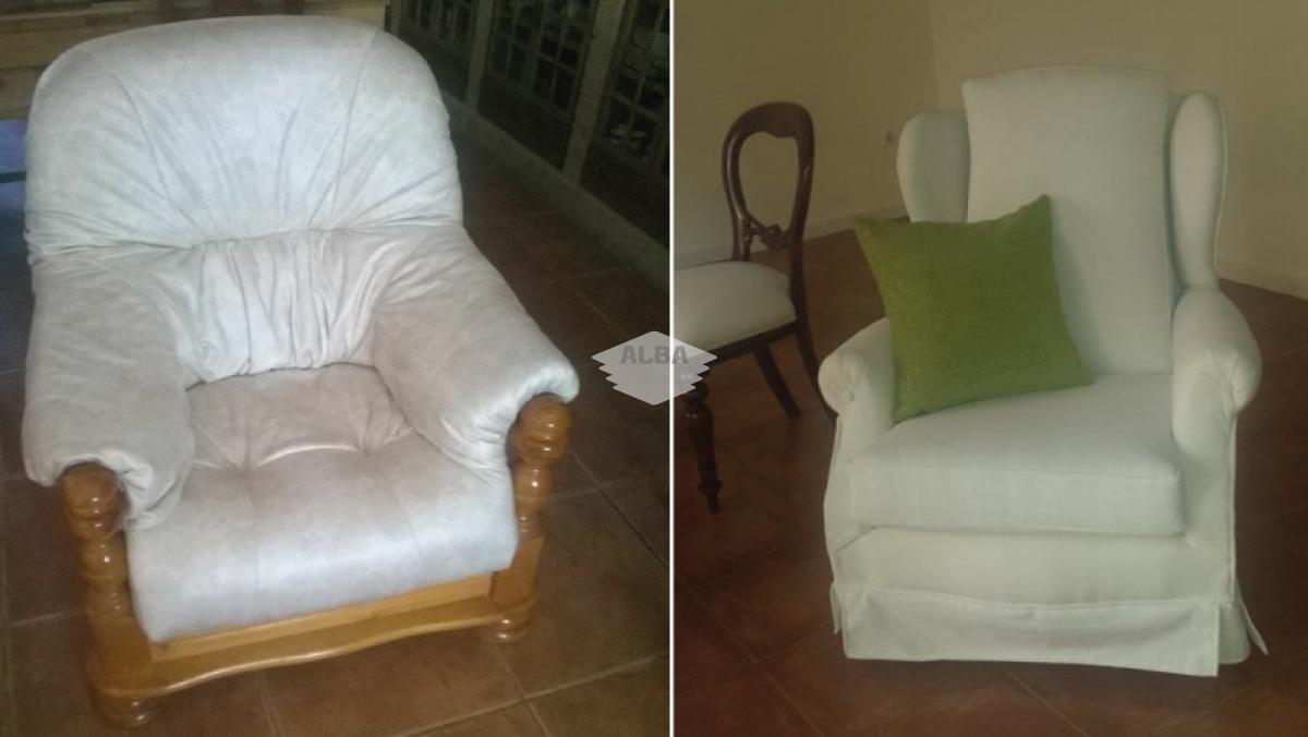 Tapizado de sillones, relax, módulos, puff, ...