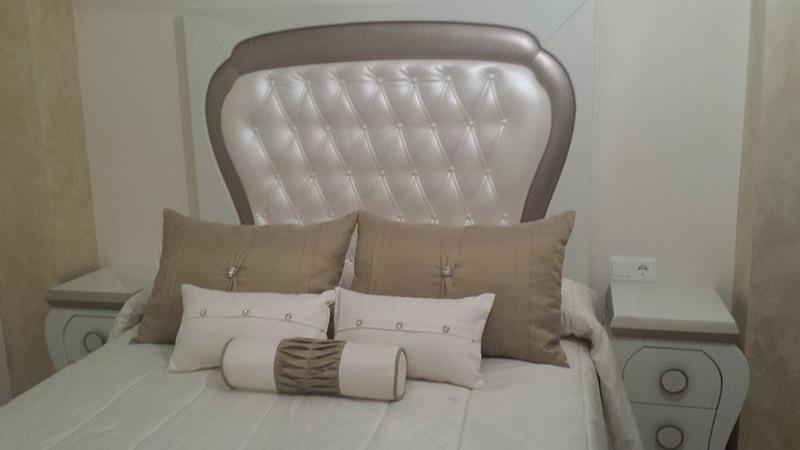 Tapizado de cabeceros de cama tapicer a alba tapiceros - Cabeceros de cama tapizados ...